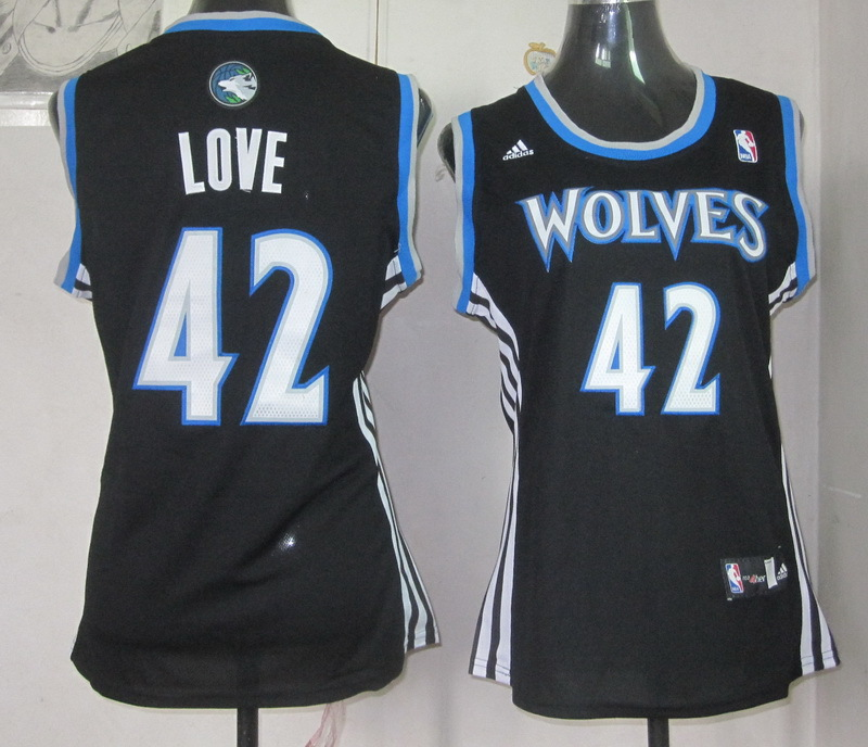 NBA Womens Minnesota Timberwolves 42 Kevin Love revolution 30 black jersey