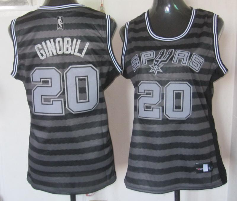 NBA Womens San Antonio Spurs 20 Manu Ginobili 2013 new Groove fashion Swingman jersey