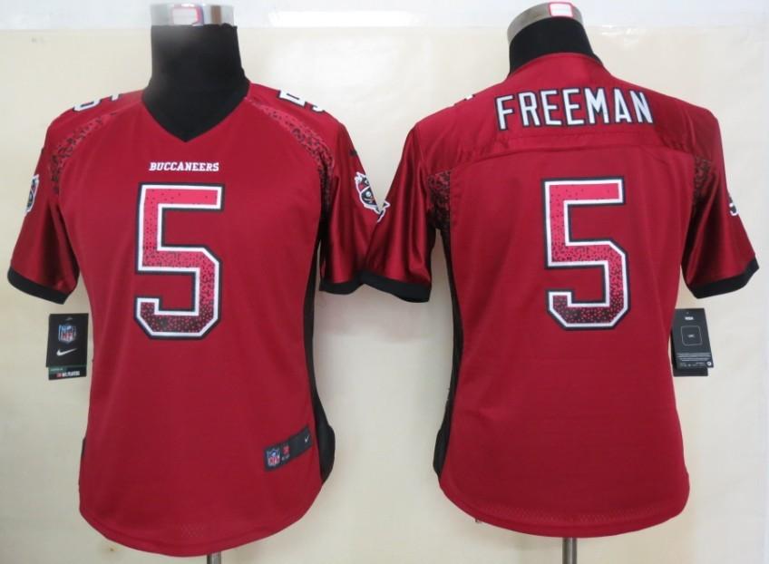 Women 2013 New Nike Tampa Bay Buccaneers 5 Freeman Drift Fashion Red Elite Jerseys