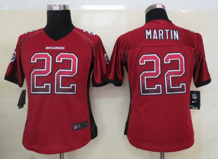 Women 2013 New Nike Tampa Bay Buccaneers 22 Martin Drift Fashion Red Elite Jerseys