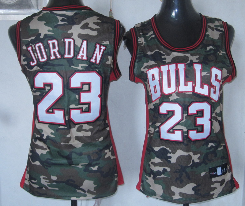 NBA Womens Chicago Bulls 23 Michael Jordan Camouflage Special Edition jersey