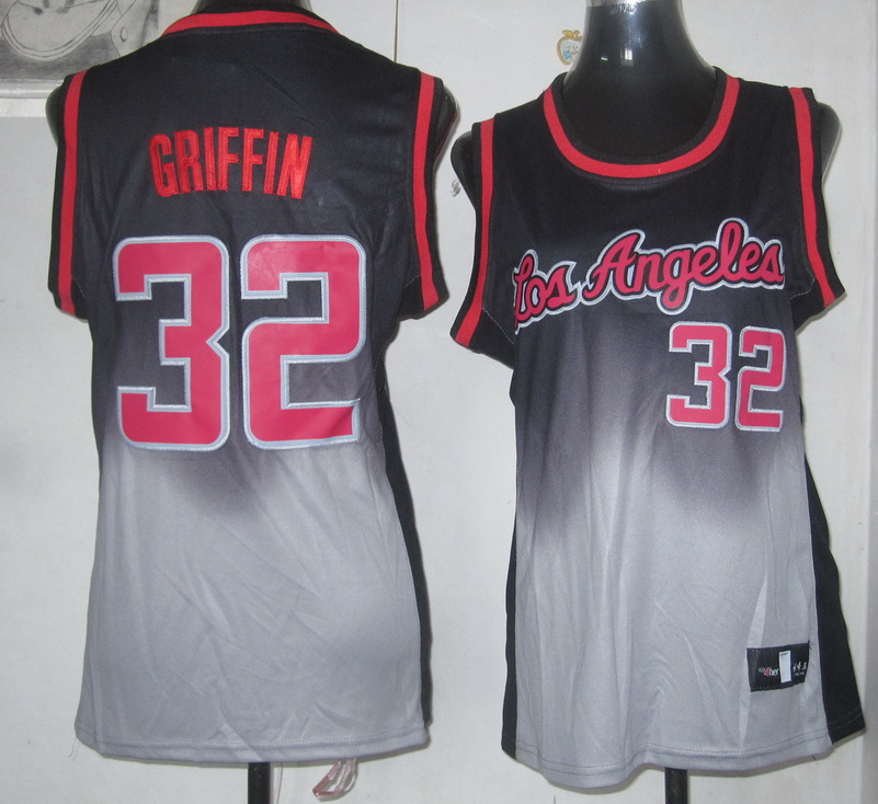 NBA Womens Los Angeles Clippers 32 Griffin new black grey jersey