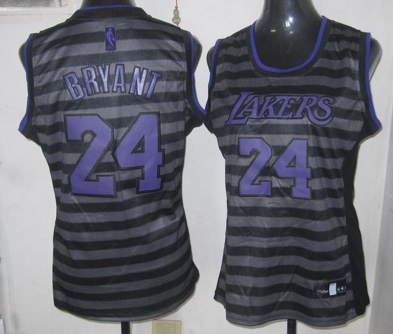 NBA Womens Los Angeles Lakers 24 Kobe Bryant new Groove fashion Swingman jersey