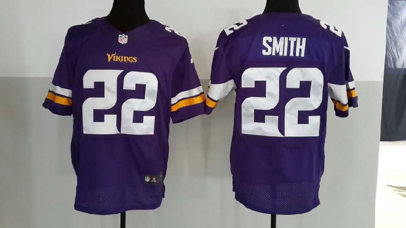 Minnesota Vikings 22 Smith Purple 2013 Nike Elite Jerseys