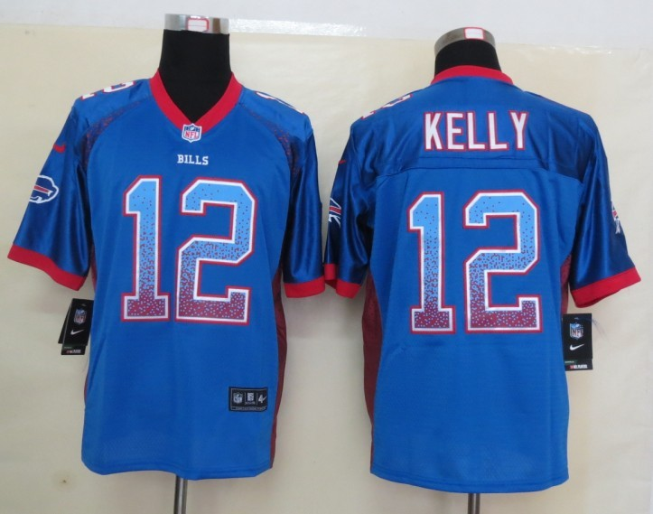 2013 New Nike Buffalo Bills 12 Kelly Drift Fashion Blue Elite Jerseys