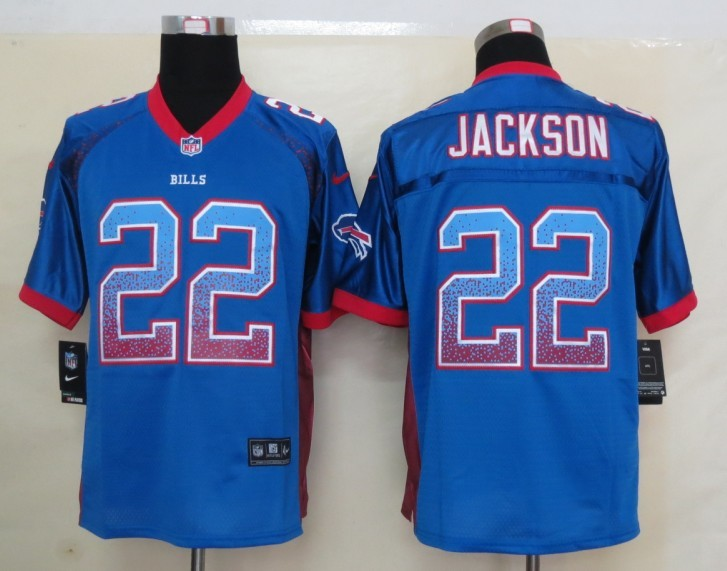 2013 New Nike Buffalo Bills 22 Jackson Drift Fashion Blue Elite Jerseys