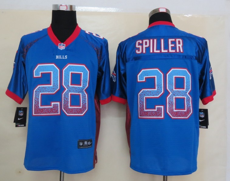 2013 New Nike Buffalo Bills 28 Spiller Drift Fashion Blue Elite Jerseys