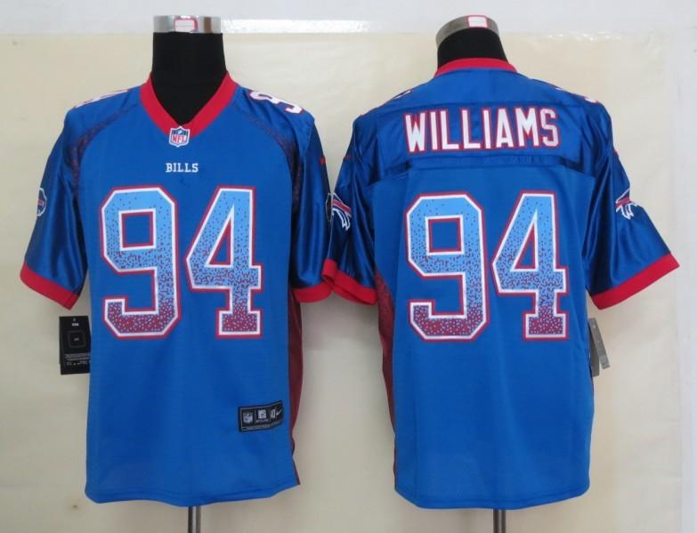 2013 New Nike Buffalo Bills 94 Williams Drift Fashion Blue Elite Jerseys