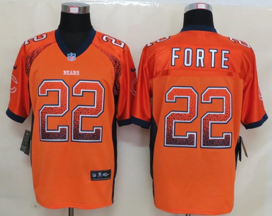 2013 NEW Nike Chicago Bears 22 Forte Drift Fashion Orange Elite Jerseys