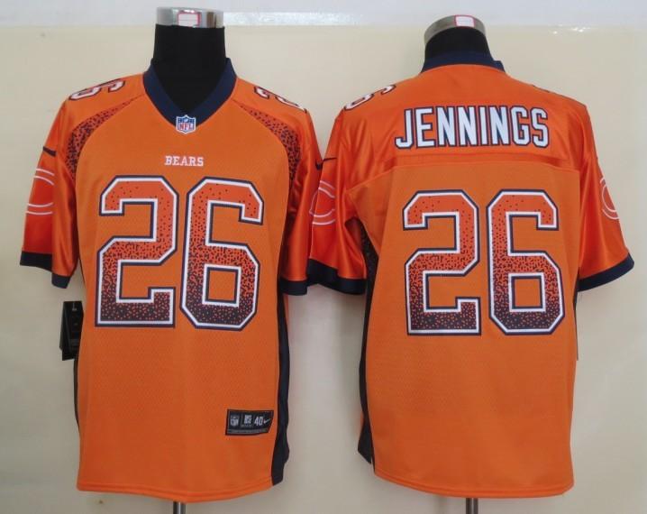 2013 NEW Nike Chicago Bears 26 Jennings Drift Fashion Orange Elite Jerseys
