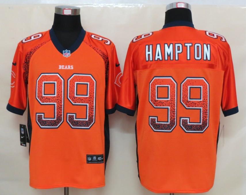 2013 NEW Nike Chicago Bears 99 Hampton Drift Fashion Orange Elite Jerseys