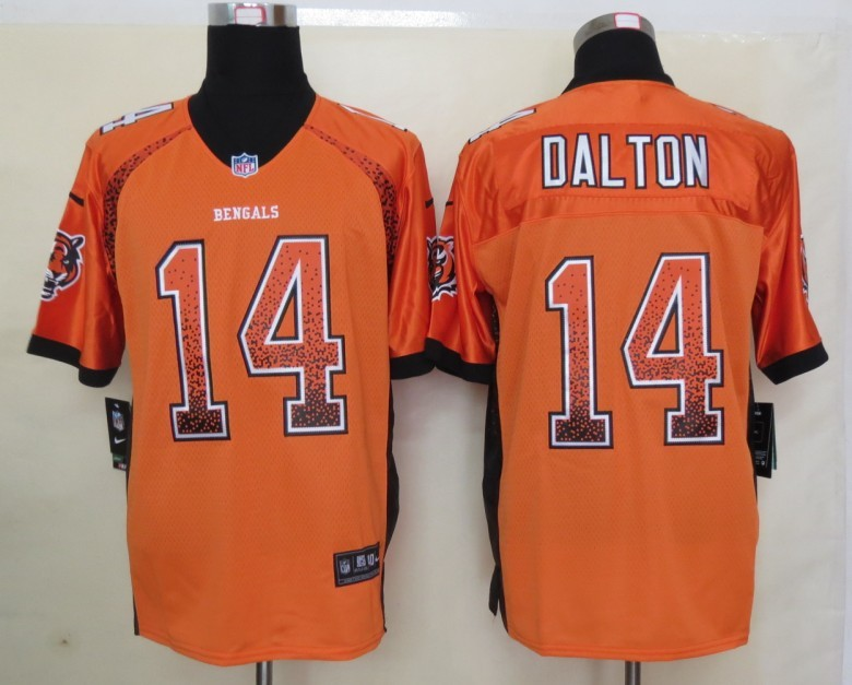 2013 NEW Nike Cincinnati Bengals 14 Dalton Drift Fashion Orange Elite Jerseys