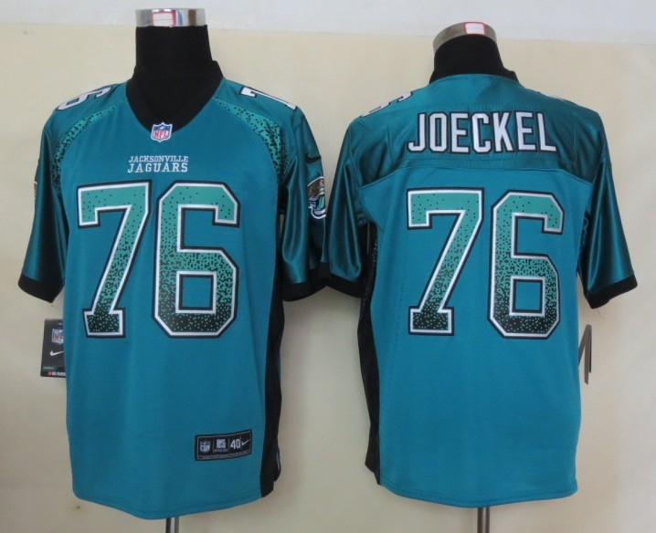 2013 NEW Nike Jacksonville Jaguars 76 Joeckel Drift Fashion Green Elite Jerseys