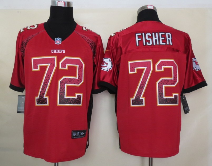 2013 NEW Nike Kansas City Chiefs 72 Fisher Drift Fashion Red Elite Jerseys