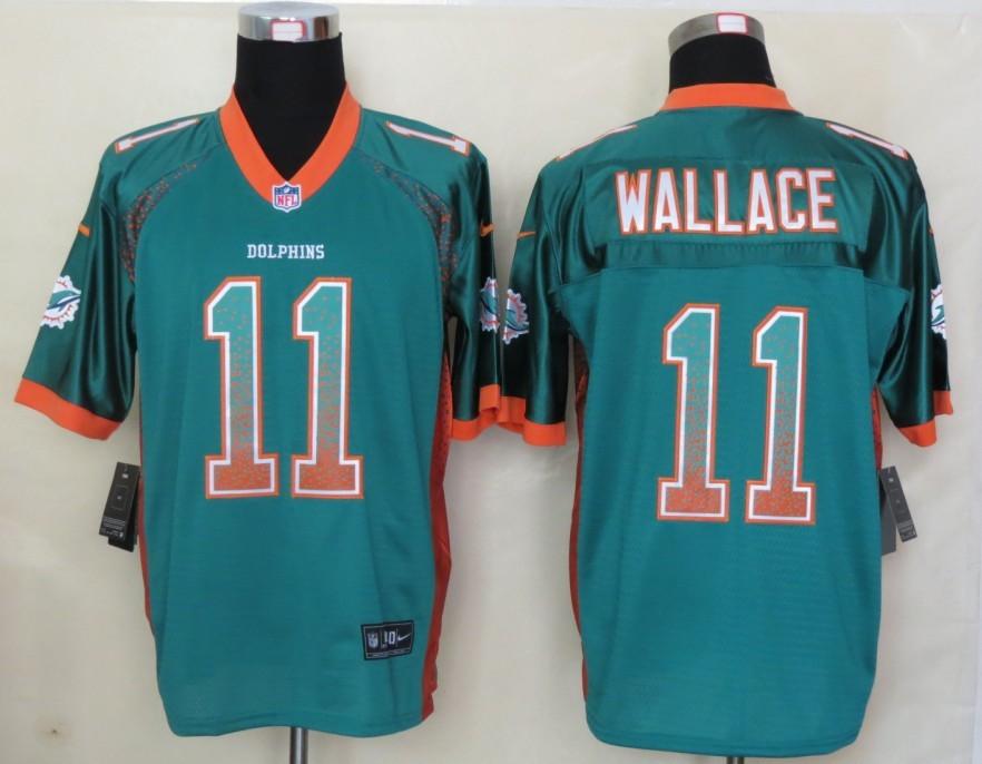 2013 New Nike Miami Dolphins 11 Wallace Drift Fashion Green Elite Jerseys