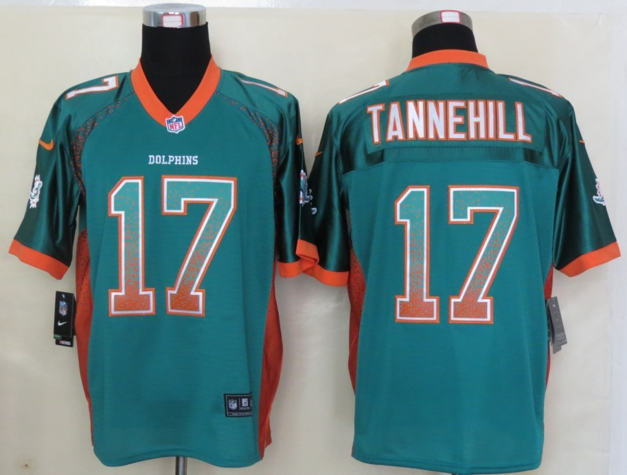 2013 New Nike Miami Dolphins 17 Tannehill Drift Fashion Green Elite Jerseys