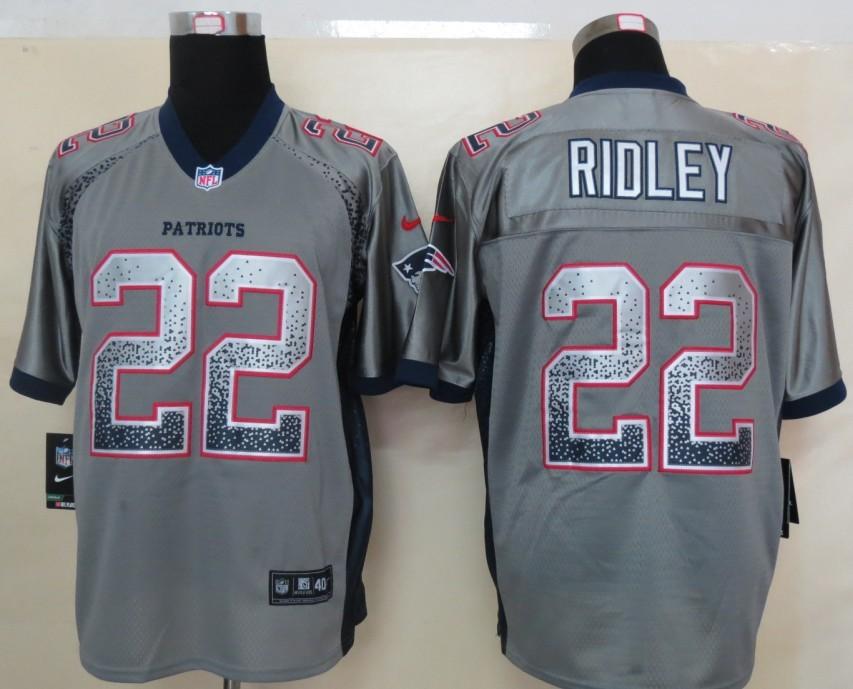 2013 New Nike New England Patriots 22 Ridley Drift Fashion Grey Elite Jerseys