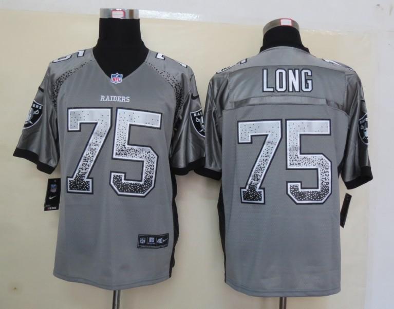 2013 New Nike Oakland Raiders 75 Long Drift Fashion Grey Elite Jerseys