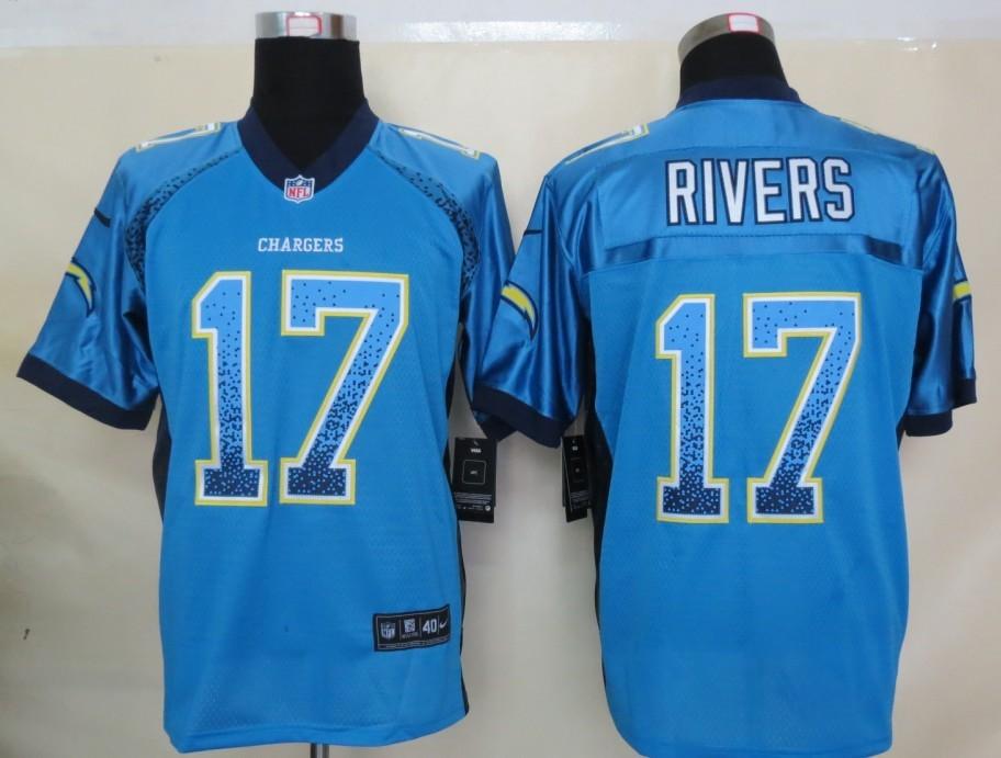 2013 NEW Nike San Diego Charger 17 Rivers Drift Fashion Blue Elite Jerseys