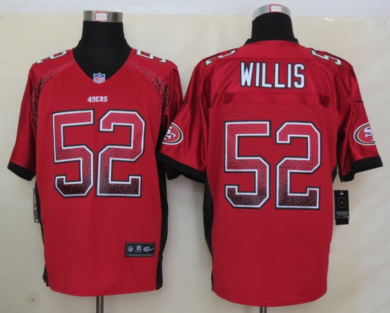 2013 NEW Nike San Francisco 49ers 52 Willis Drift Fashion Red Elite Jerseys