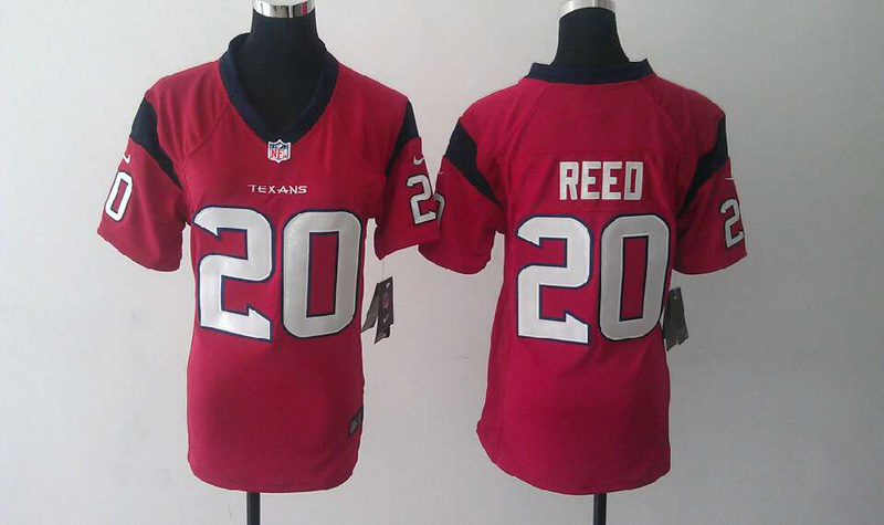 Womens Houston Texans 20 Ed Reed Red Nike Jerseys