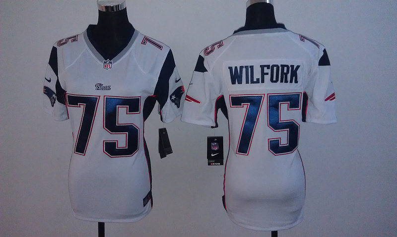 Womens New England Patriots 75 Vince Wilfork White Nike jersey