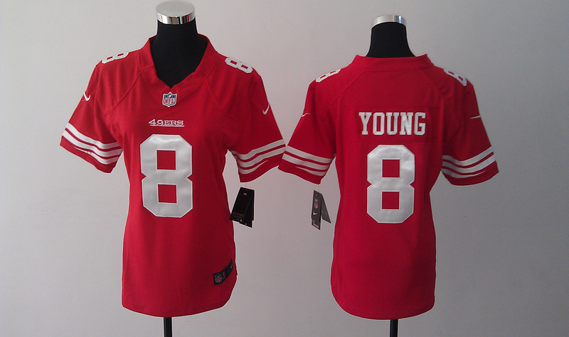 Womens San Francisco 49ers 8 Steve Young Red Nike Jersey