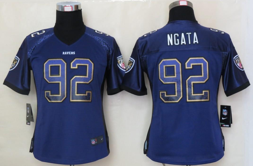 Women 2013 NEW Nike Baltimore Ravens 92 Ngata Drift Fashion Purple Elite Jerseys