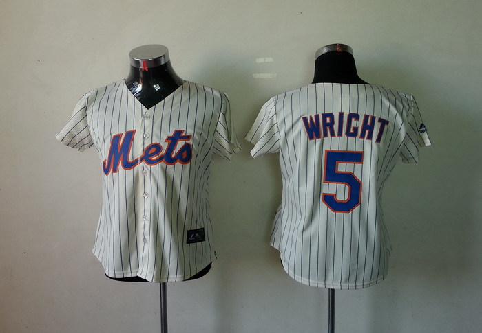 MLB Womens New York Mets 5 David Wright White Jerseysv