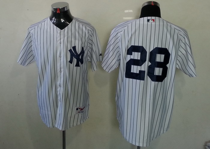 MLB New York Yankees 28 Joe Girardi White Jersey