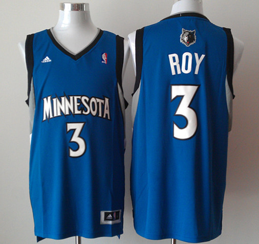 NBA Minnesota Timberwolves 3 Brandon Roy Blue Basketball Jersey