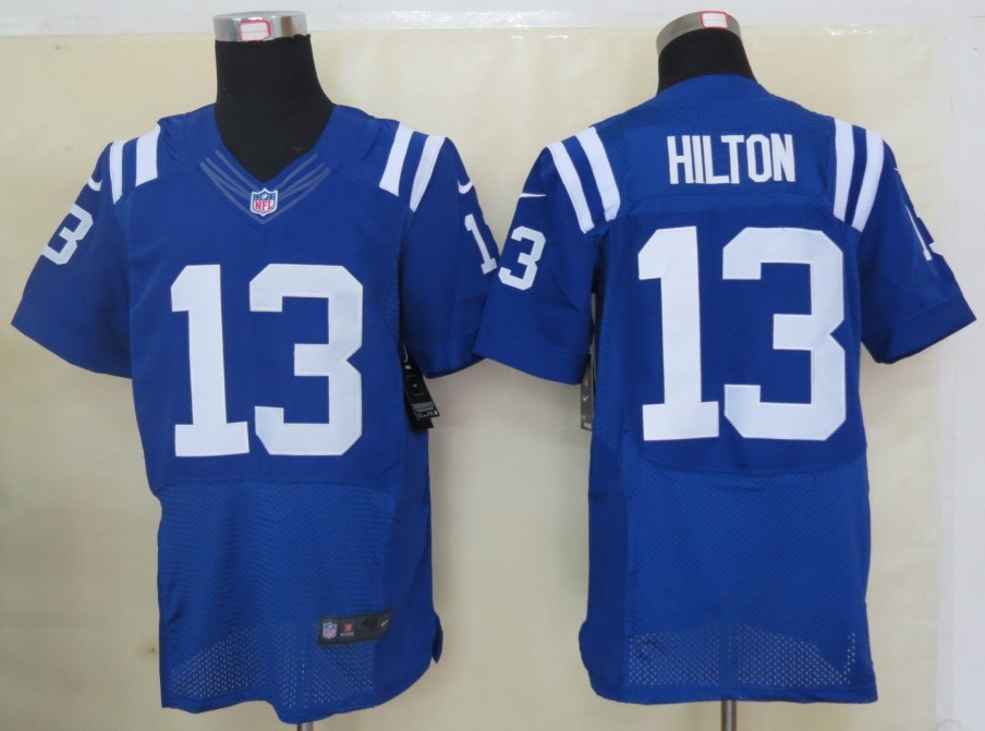 Indianapolis Colts 13 Hilton Blue 2013 Nike Elite Jerseys