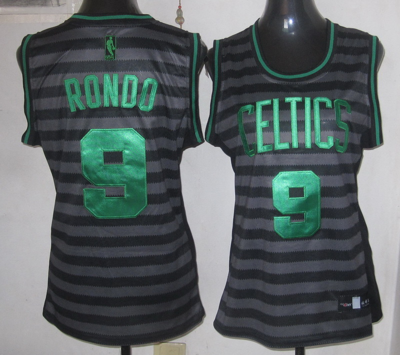 NBA Womens Boston Celtics 9 Rajon Rondo 2013 new Groove fashion Swingman jersey