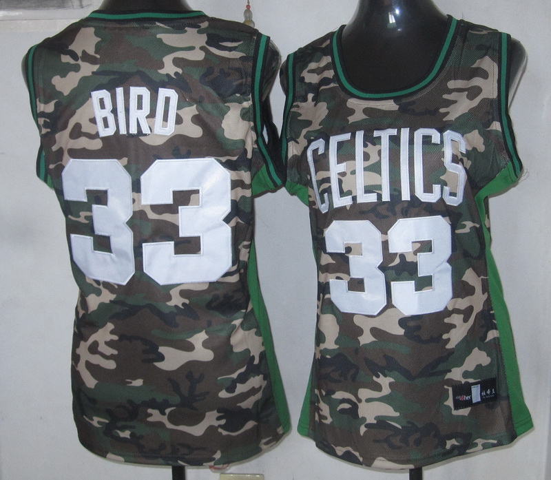 NBA Womens Boston Celtics 33 Larry Bird Camouflage Special Edition jersey