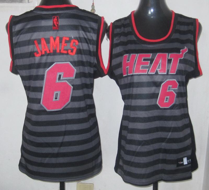 NBA Womens Miami Heat 6 Lebron James 2013 new Groove fashion Swingman jersey