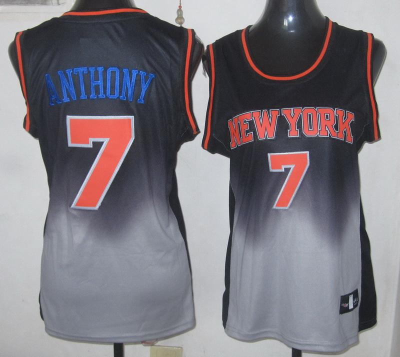 NBA Womens New York Knicks 7 Carmelo Anthony 2013 new black grey jersey
