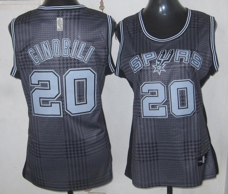 NBA Womens San Antonio Spurs 20 Manu Ginobili Rhythm Fashion Women jersey(Limited Edition)