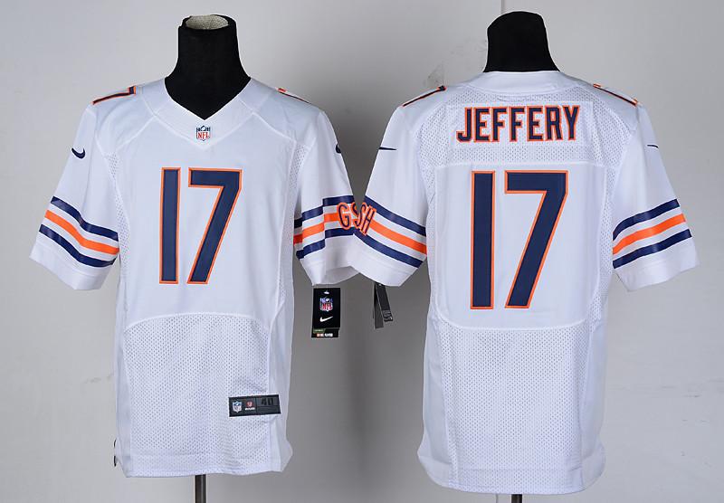 Chicago Bears 17 Jeffery White Nike Elite Jerseys