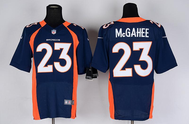Denver Broncos 23 Willis McGahee blue Nike Elite Jerseys