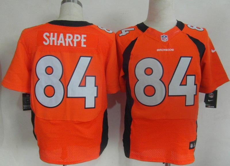 Denver Broncos 84 Sharpe Orange Nike Elite Jerseys