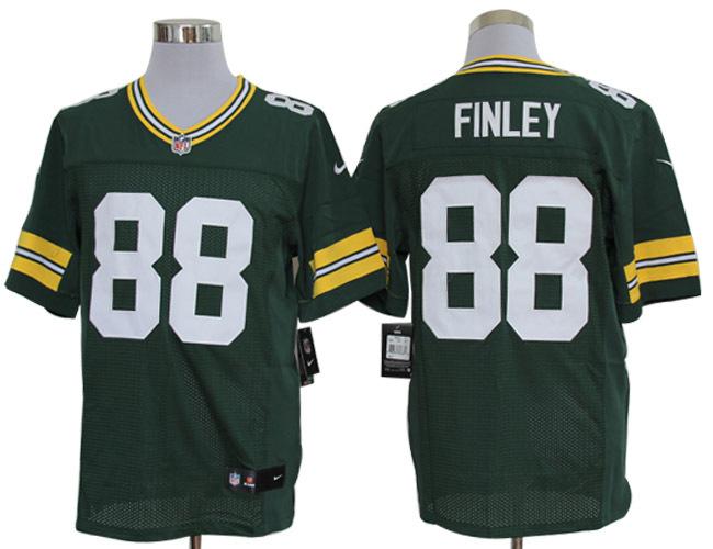 Green Bay Packers 88 finley Green Nike Elite Jerseys