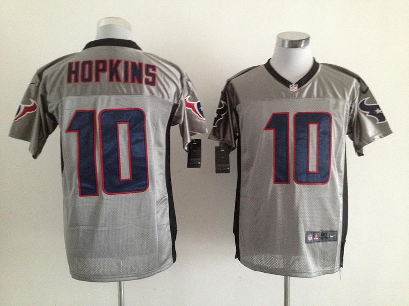 Houston Texans 10 Hopkins 2013 Nike Gray Shadow Jerseys