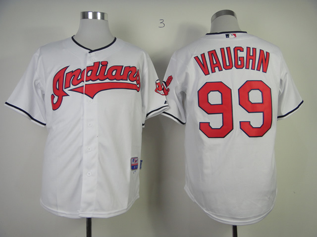 MLB Cleveland Indians 99 Vaughn White Jerseys