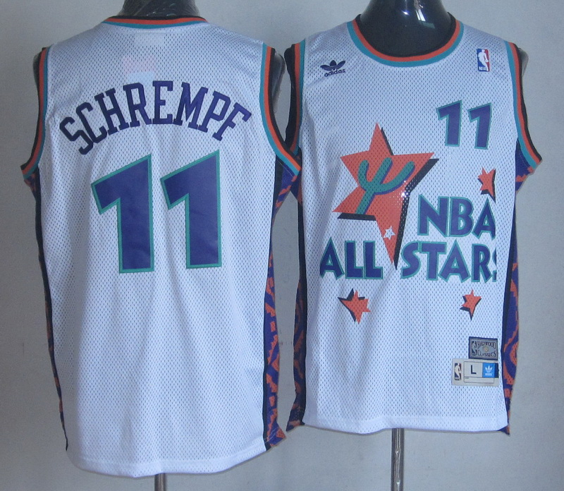 NBA 11 Schrempf 1995 all star game white Jerseys