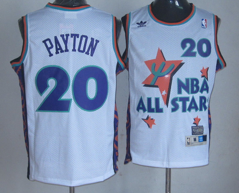 NBA 20 Payton 1995 all star game white Jerseys