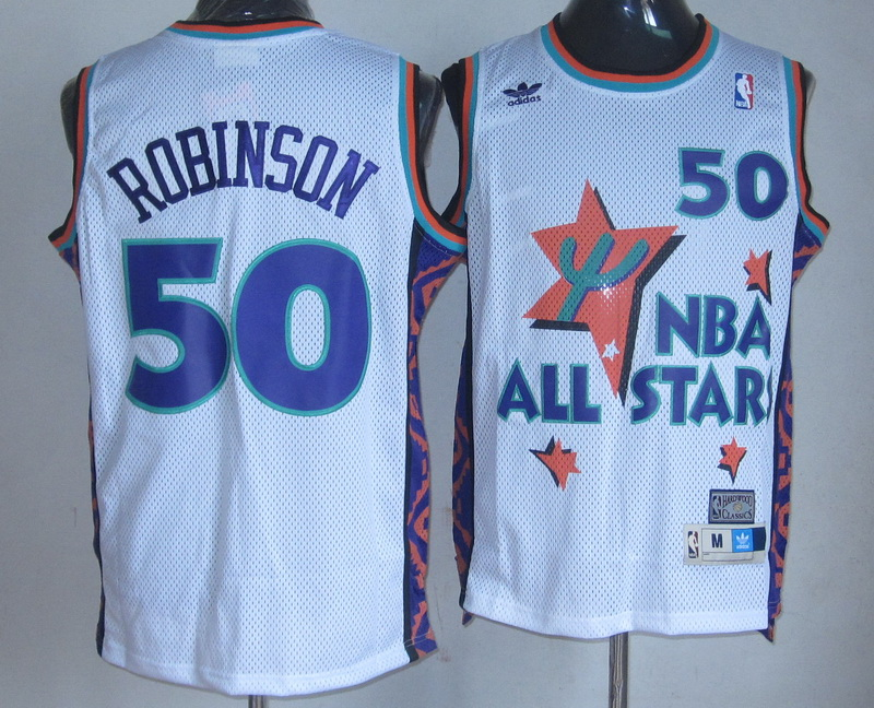 NBA 50 Robinson 1995 all star game white Jerseys