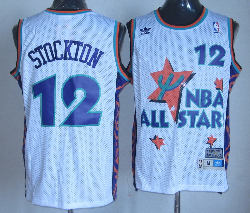 NBA 12 John Stockton 1995 all star white jersey