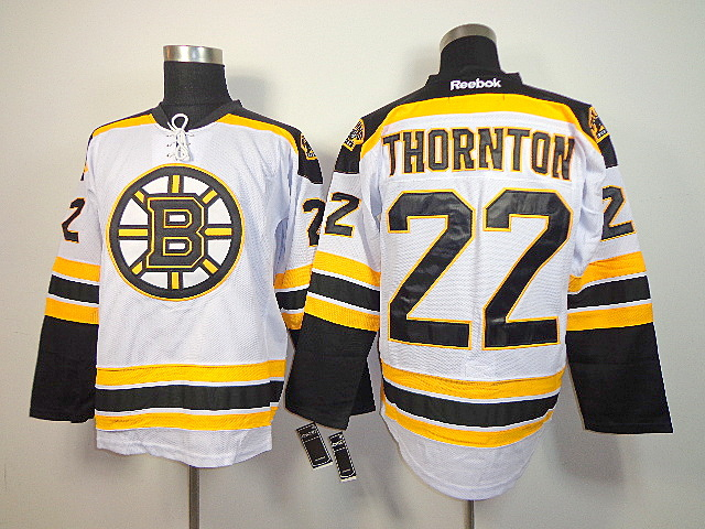 NHL Reebok Boston Bruins 22 Shawn Thornton White Jersey