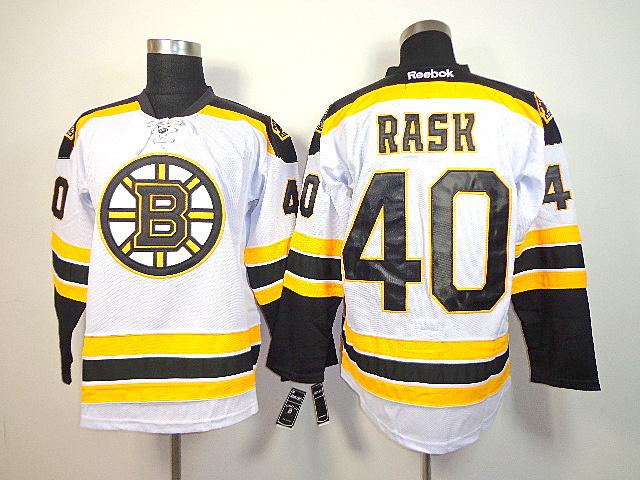NHL Reebok Boston Bruins 40 Tuukka Rask White Jersey