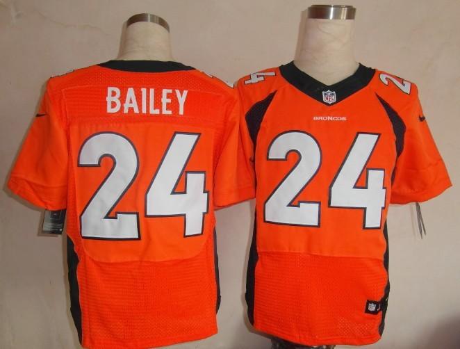 Denver Broncos 24 Champ Bailey Orange 2013 Nike Elite Jersey